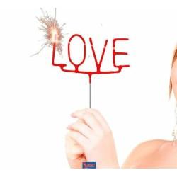 STELLINE SPARKLER SCRITTA LOVE